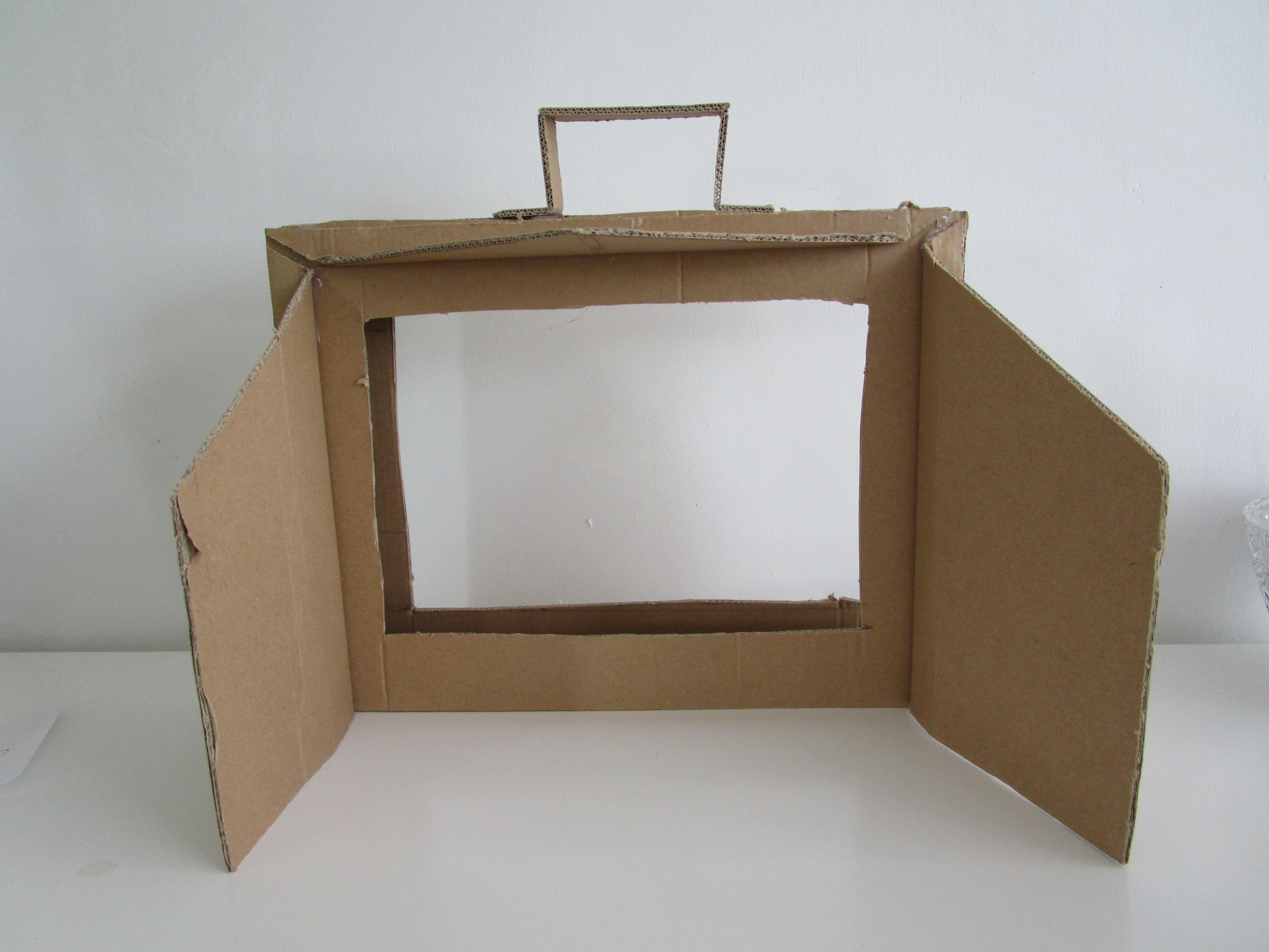 Decorer  Carton En Rondin De Bois